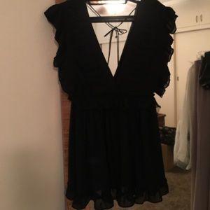 lilyful Dresses - Lilyful Ruffle Chiffon Flare Dress